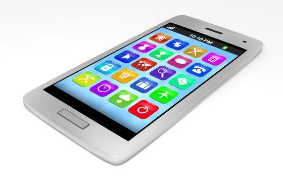 Illustration of a generic smartphone