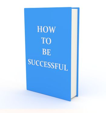 """Illustration of a book with the words """"How to be Successful"""" on the cover"""
