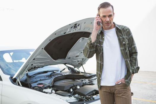 Desperate man calling for assistance after breaking down