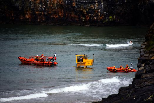 Ballybunion Sea & Cliff Rescue Service at ballybunion cliffs castle and beach of  county kerry ireland