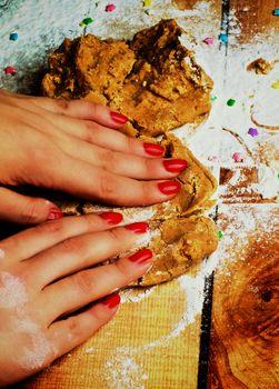 Preparation Gingerbread Dough