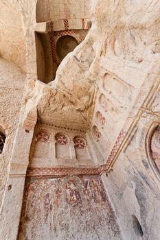 Sandstone Church Detail at Cappadocia