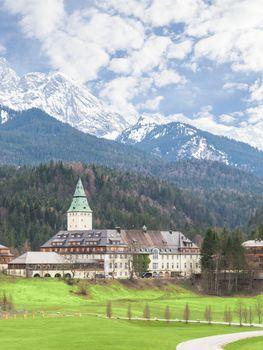 Hotel Schloss Elmau palace vertical landscape