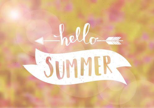 Blurred Background Typographic Summer Design