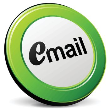 illustration of email 3d green design icon