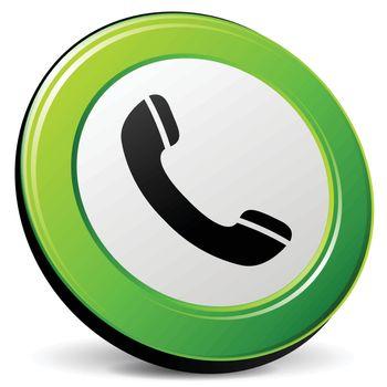 illustration of phone 3d green design icon