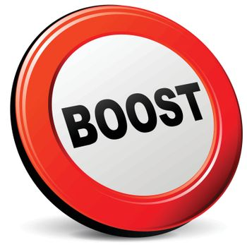 illustration of boost 3d red design icon