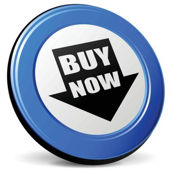 illustration of buy 3d blue design icon