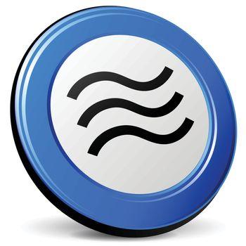 illustration of tremor 3d blue design icon