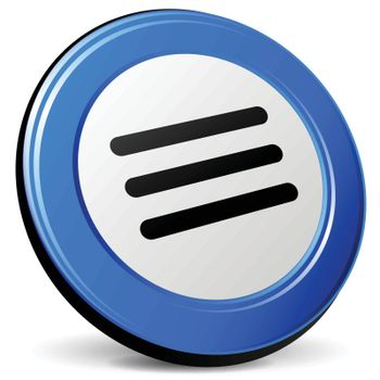 illustration of expand 3d blue design icon