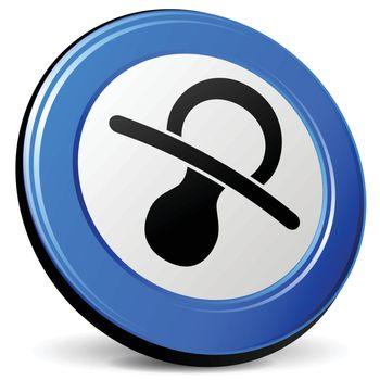illustration of baby 3d blue design icon