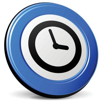 illustration of time 3d blue design icon
