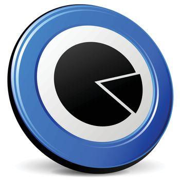 illustration of pie 3d blue design icon