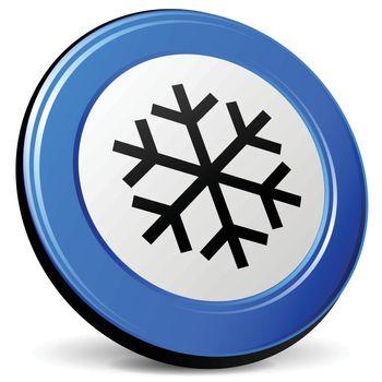 illustration of ice 3d blue design icon
