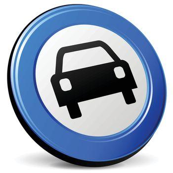 illustration of car 3d blue design icon