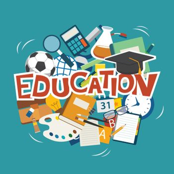 education elements background flat design