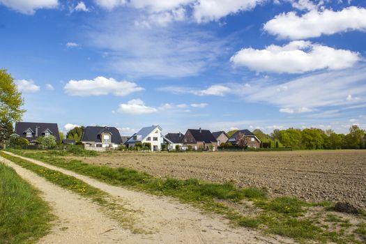 German countryside landscape, Lower Rhine Region