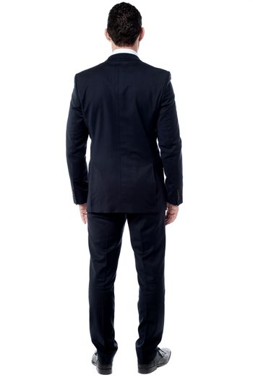 Back pose of male entrepreneur