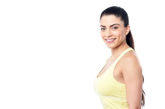 Casual pose of fitness woman
