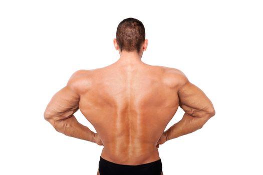 Huge bodybuilder back on steroids.