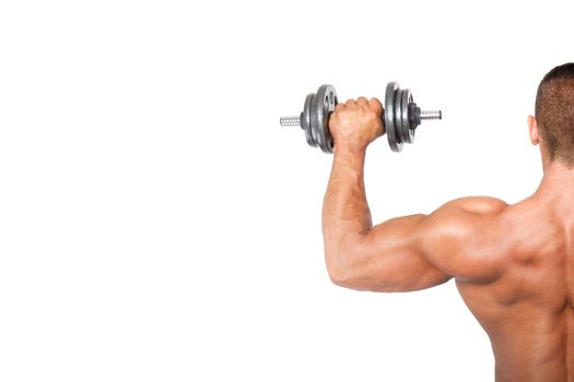 Bodybuilding background with copy space.