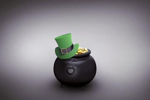Composite image of leprechaun hat