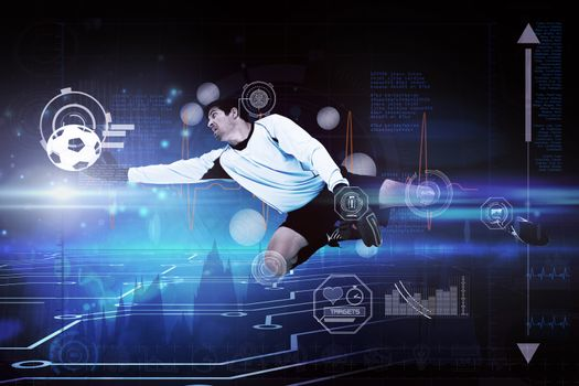 Composite image of goalkeeper
