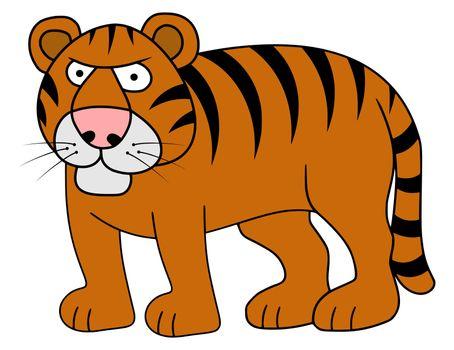 Illustration of a cartoon Tiger