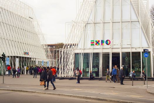 MILAN, ITALY - MARCH 29: View of Expo gate 2015 in Milan on March 29, 2015