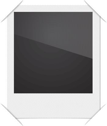 Retro Photo Frame Polaroid  On White Background. Vector illustration