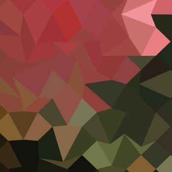 Low polygon style illustration of a brunswick green abstract geometric background.