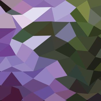 Low polygon style illustration of a palatinate purple abstract geometric background.