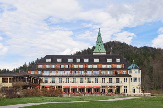 Backyard of hotel Elmau Schloss summit G8 2015