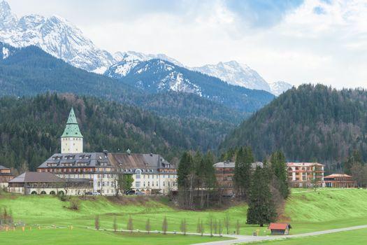 Hotel complex Schloss Elmau in Bavarian Alps summit G7 G8