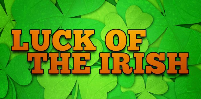 Composite image of luck of the irish