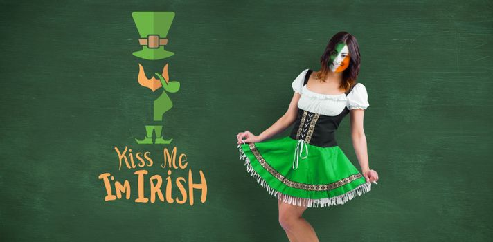 Composite image of irish girl smiling