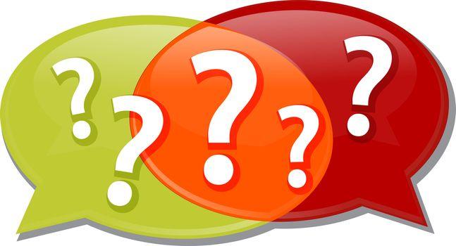 Illustration concept clipart questions queries dialog questions conversation speech bubbles