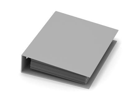 Single ring binder on white background