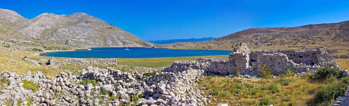 Island of Krk yachting bay panorama