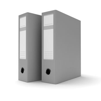 Two ring binders on white background