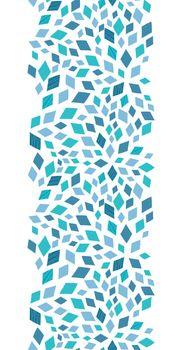 Vector blue mosaic texture vertical border seamless pattern background graphic design