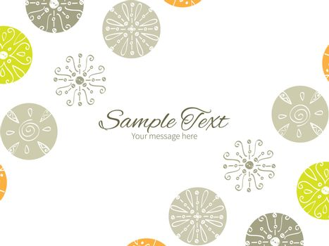 Vector abstract gray and green polka dot backgr horizontal double corners frame invitation template graphic design