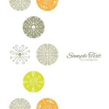 Vector abstract gray and green polka dot backgr vertical frame seamless pattern background graphic design