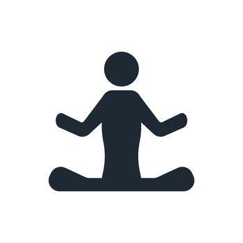 yoga sign icon