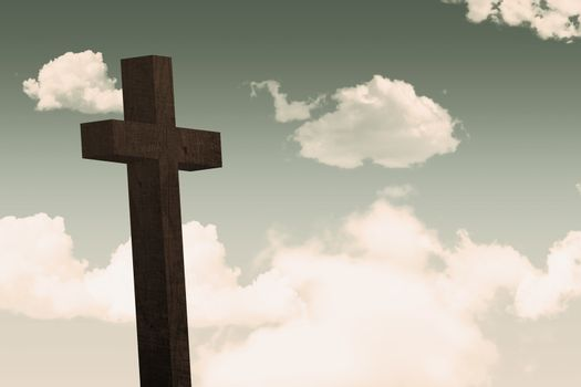 Cross against sky
