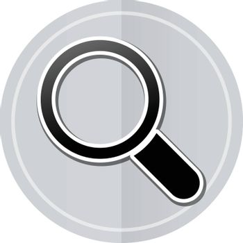 Illustration of searching sticker icon simple design