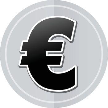 Illustration of euro sticker icon simple design