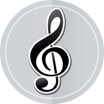 Illustration of music sticker icon simple design