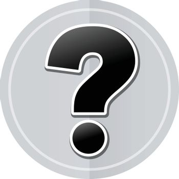 Illustration of interrogation sticker icon simple design
