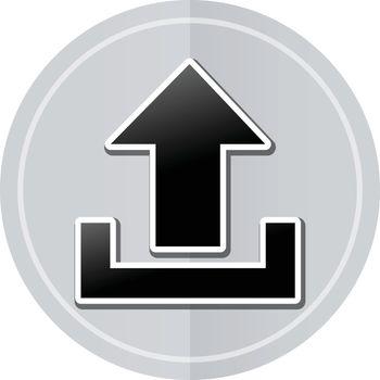 Illustration of upload sticker icon simple design